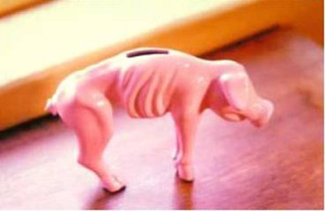 Skinny Piggy Bank