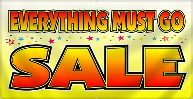 everything must go sale