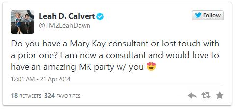 Leah's MK Tweet